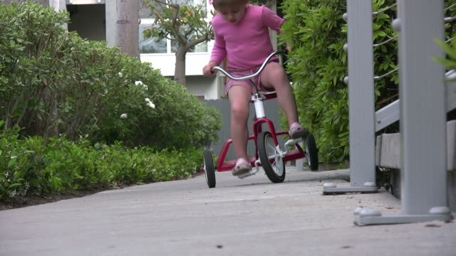 (HD1080i) Child Falls off Bike video
