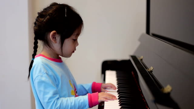 Child, Girl, Playing Piano video