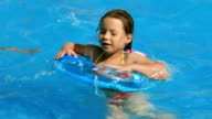 Child in a swimming pool video