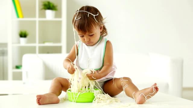 Child in spaghetti video