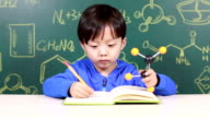 Child Learning chemistry video
