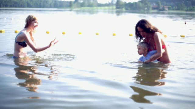 Child Learning to Swim video