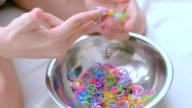 child making  bracelets video