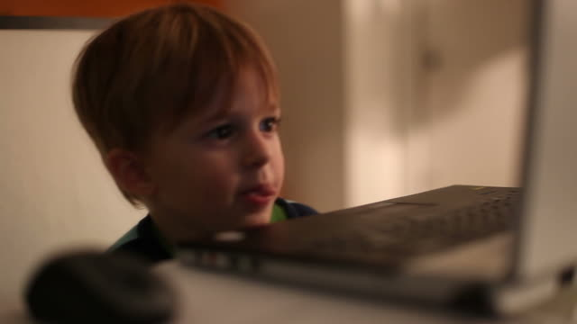 Child on computer video