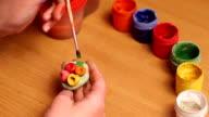 Child paint. video
