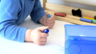 Child painting video