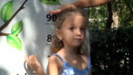 Child Playing, Checking her Tall, Mother Measuring Little Girl Height video