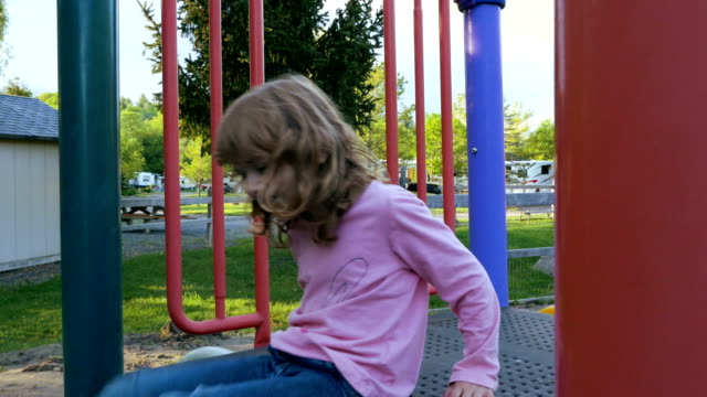Child Playing in a Outdoor Playground video