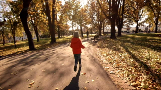 Child playing in a park - AUTUMN COLORS video