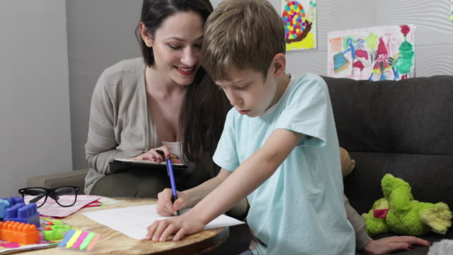 Child psychologist at work video