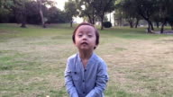 Child Throwing Leaves video