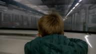 Child traveling in underground video