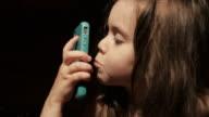 Child Using Modern Technology Bedtime video
