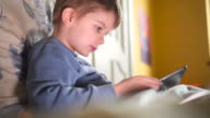 Child using tablet video