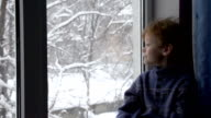 Child Waiting for Christmas video