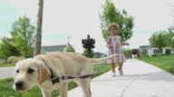Child walking puppy 4 video