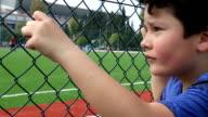 child watching football match video