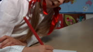 Child writing video