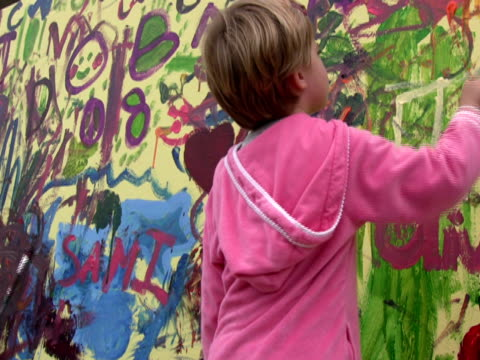Childhood Accident: Young Girl Paints Mural, Splashes Eye video