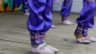 children are seen dancing feet slow motion video video