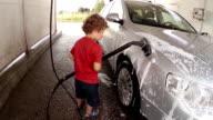 Children at Car Wash video