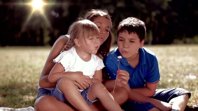 Children Blowing Dandelion video