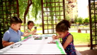 Children drawing picture video