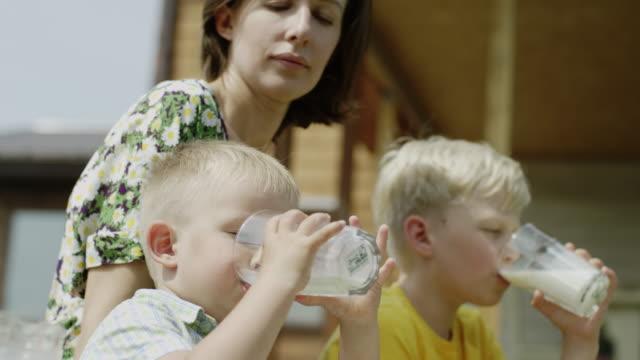 children drinking milk video