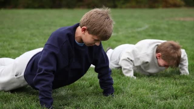 Children Exercising - Push Ups video