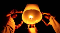 Children Floating Sky Lantern video