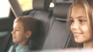 Children get in the car fastening seat belts video