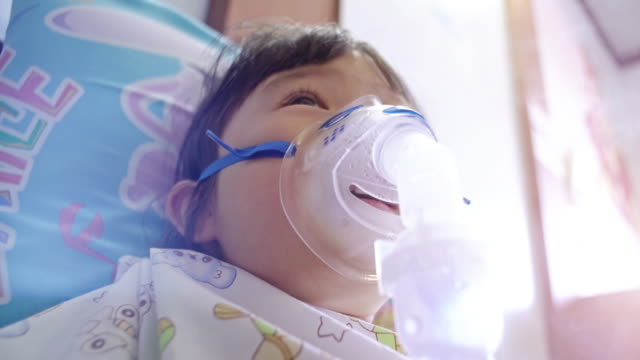 Children has asthma and need nebulizations video