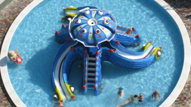 children in pool time lapse video