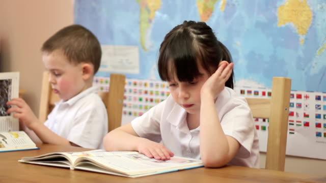 Children in School Classroom. video