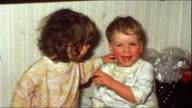 Children kissing (vintage 8 mm amateur film) video
