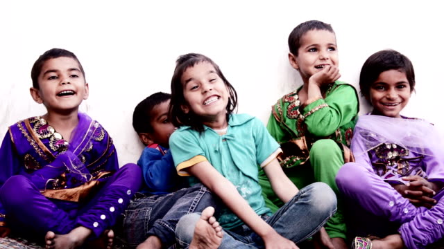 Children Laughing Portrait video