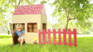 Children leaving and entering Playhouse video