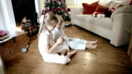Children making a christmas wish video