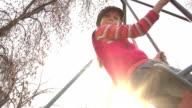 Children on a Swing video