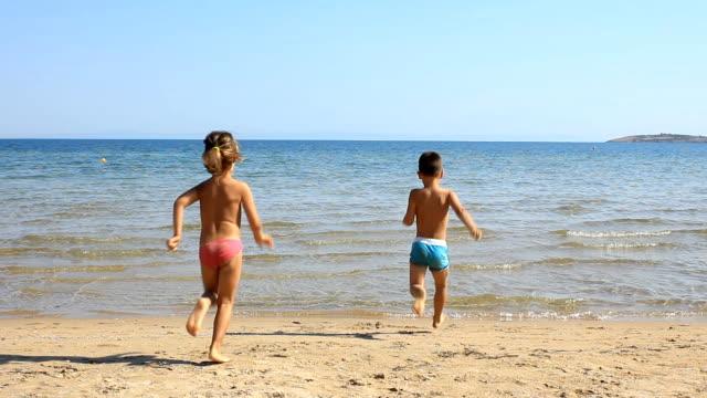 Children on the beach video