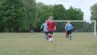 Children Playing a Game of Soccer Outdoors video