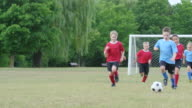 Children Playing a Game of Soccer video