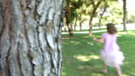 Children Playing Hide And Seek In Park video