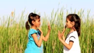 Children Playing in Nature video