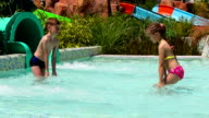 Children playing in the pool video