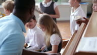 Children Playing Instruments In School Band Together video