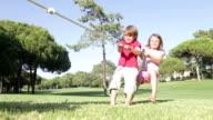 Children Playing Tug Of War video