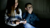Children playing video games video