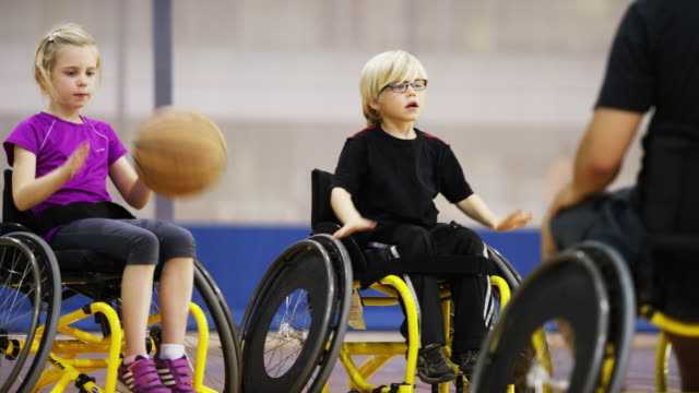 Children Playing Wheelchair Basketball video