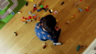 Children Playing With Building Blocks At Home video